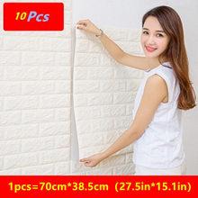 10 шт ПЭ Пена 3D Обои DIY настенные наклейки на стену, украшение, рельефные обои под кирпич детская спальня гостиная плакат-наклейка для дома