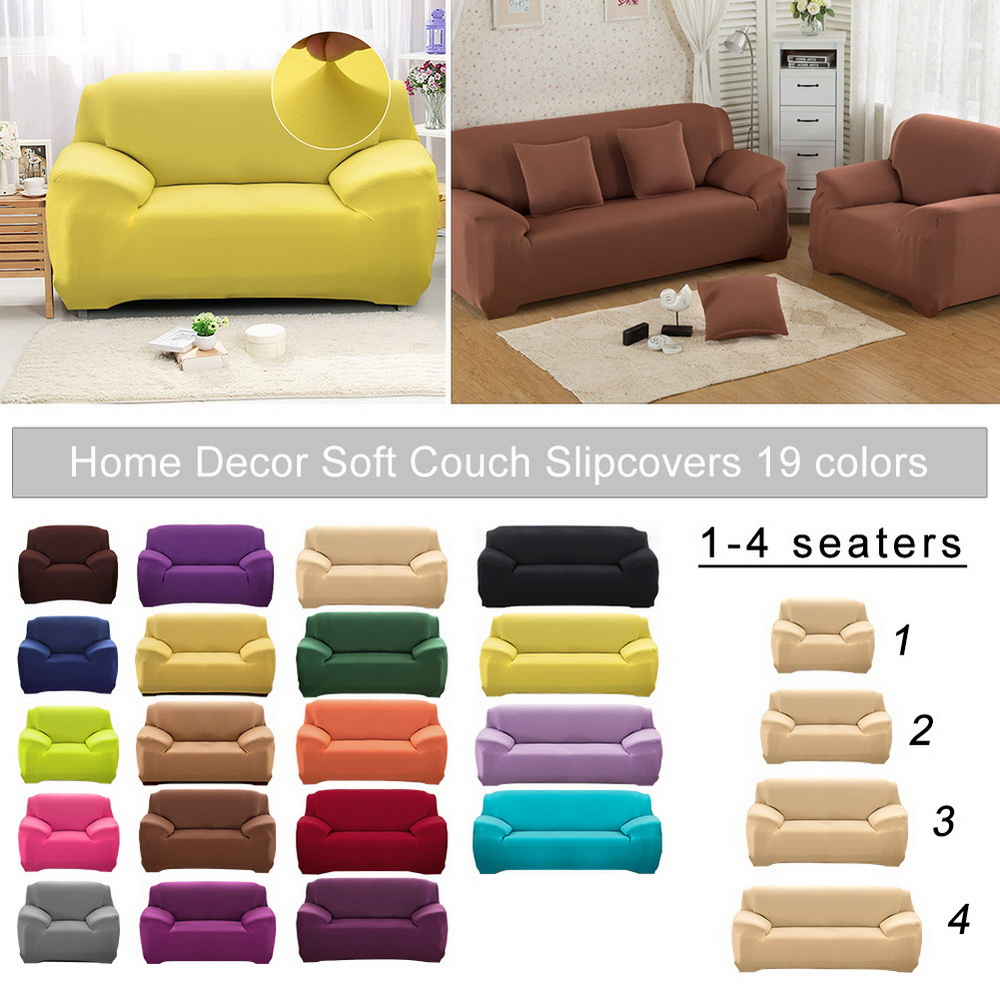 1-4 Seaters Elastic Sofa Covers All-inclusive Slip-resistant Sofa Covers for