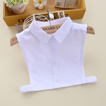 Fashion Detachable Collars Children Unginned Cotton Child Shirt Lead Solid Color False Fake Collar Small Code Dickie  Novelty