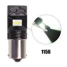 2pcs car led light S25 1156 1157 80w Backup Light Bulb 6000k 12V LED Tail Brake Turn Signal Parking Light luces led para auto цена 2017
