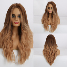 Red Wig Synthetic-Hair-Wigs Cosplay Heat-Resistant-Fiber Brown Natural-Wave Long Black Women