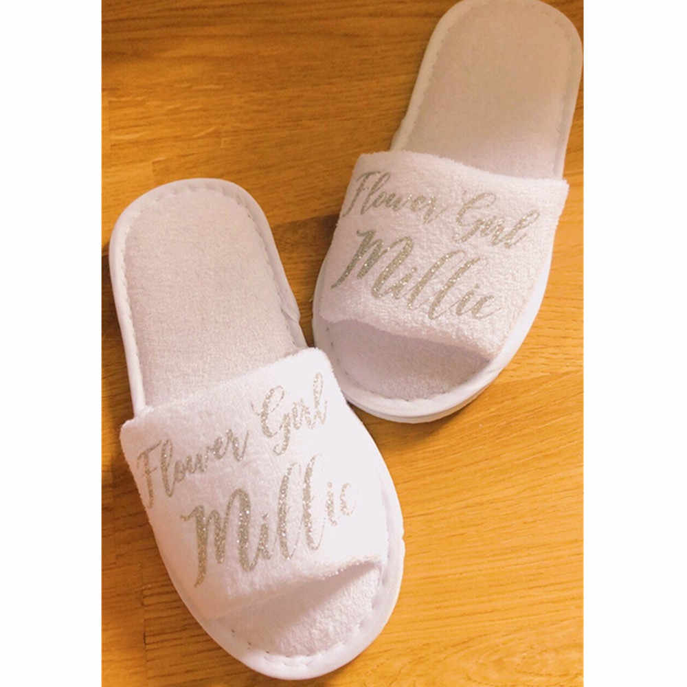 silver hen party Slippers custom name