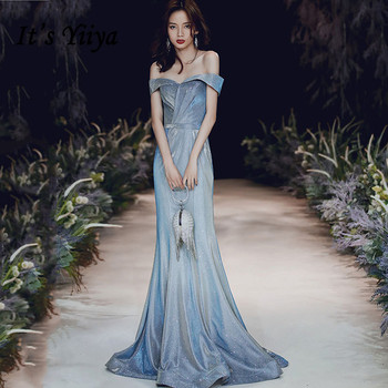 Mermaid Evening Dresses It's Yiiya BR235 Out Off Shoulder Formal Evening Gowns Vestidos Shiny Boat Neck Long Robe De Soiree 2020