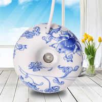 ELOOLE Mini Donut Ultraschall-luftbefeuchter Blau Und Weiß Porzellan Aromatherapie Diffusor Nebel Maker Fogger Für Home Büro Geschenk