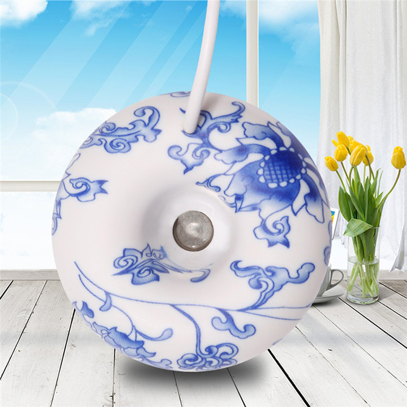 ELOOLE Mini Donut Ultrasonic Humidifier Blue And White Porcelain Aromatherapy Diffuser Mist Maker Fogger For Home Office Gift
