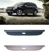 High Qualit Car Rear Trunk Cargo Cover Security Shield Screen shade Fits For Benz W164 ML Class ML300 ML350 2006 2012