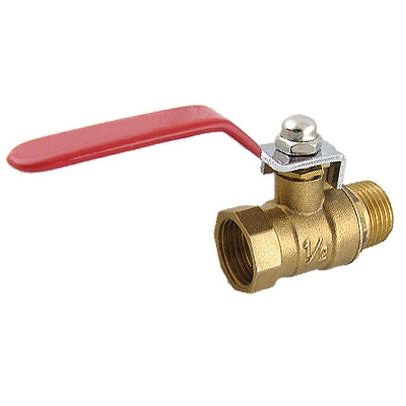 Латунный Водяной шаровой клапан с резьбой «Папа-мама» M/F 1/2 дюйма
