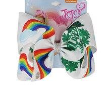 St. Patricks Day épingles à cheveux pour Saint Patrick trèfle imprimé gros grain 8 pouces filles bandeau Barrettes accessoires 12 pièces