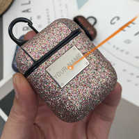Luxury Bling Shiny Sequin Case For Apple Airpods Cover Noble Glitter Girl Bluetooth Wireless Earphone Protective Case ,CKHB-SFK