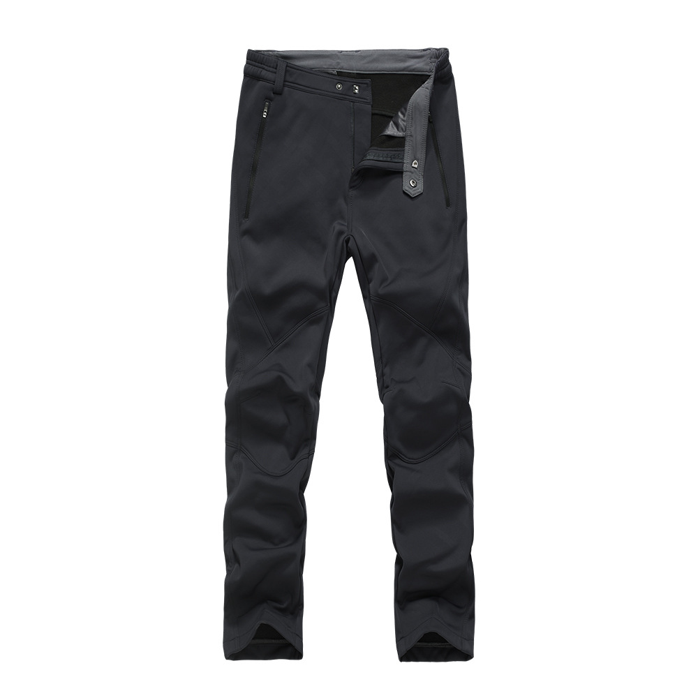 New Products Autumn And Winter Technical Pants For Men Windproof Waterproof Warm Plus Velvet Casual Trousers 17971