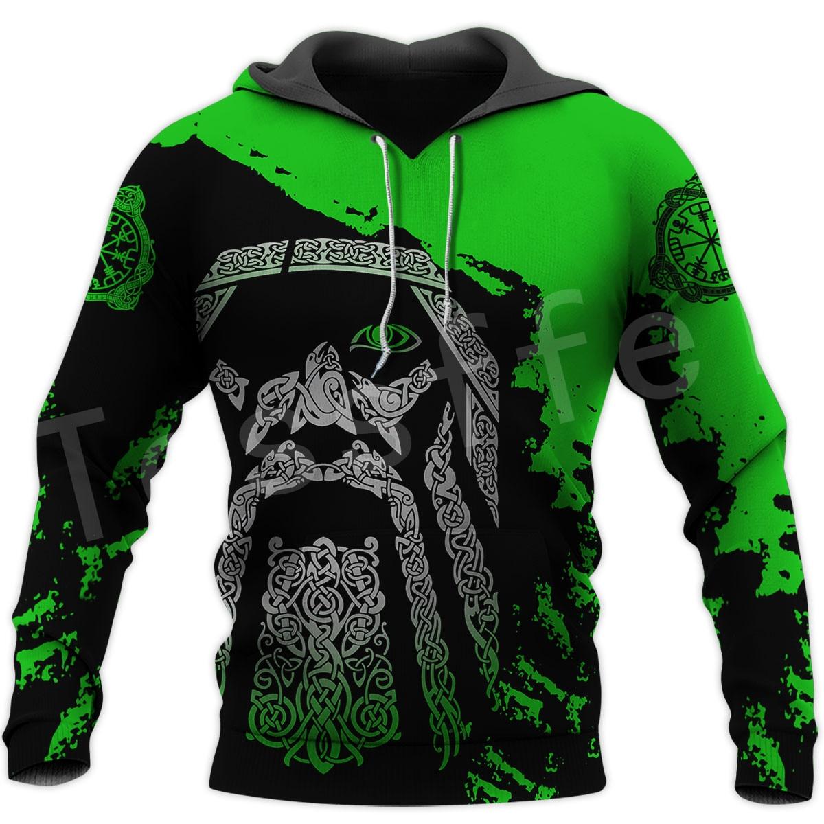 Tessffel Viking Tattoo Viking Warriors Legend New Fashion Trucksuit 3DPrint Funny Unisex Zipper/Sweatshirts/Hoodies/Jacket C-17