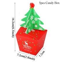Christmas Decoration Gift Box Merry Christmas Candy Box Navidad New Year 2020 Gift Bag for home Christmas Ball Natal Xmas Wooden