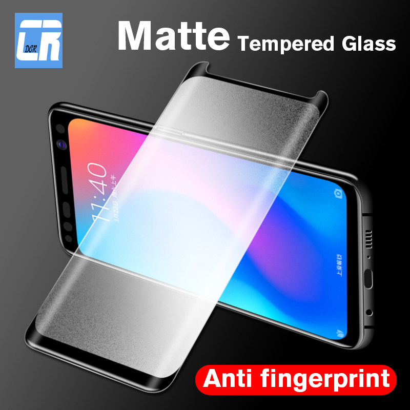 Anti-fingerprint Matte Tempered Glass For Samsung Galaxy S9 S8 Plus S7 Edge Screen Protector For Samsung Note 10 8 9 Glass
