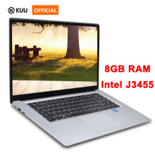 15.6 inch Laptop 8G RAM 512G 256G Intel j3455 Quad Core Student Computer Ultrabook Notebook  with RJ45 Port for Office