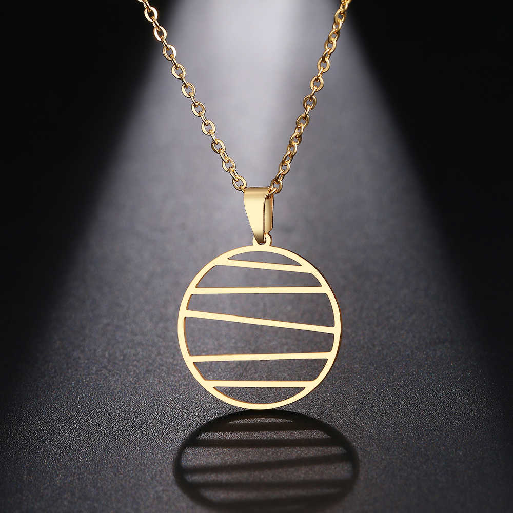 DOTIFI Stainless Steel Necklace For Women Man Irregular Geometric Lines Pendant Necklace Engagement Jewelry