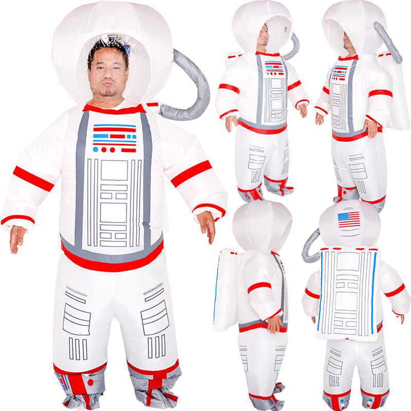 NEW Inflatable Costumes White Spaceman Clothes Halloween Christmas Cosplay Costume  Astronaut Party Dress For Adult Jumpsuit