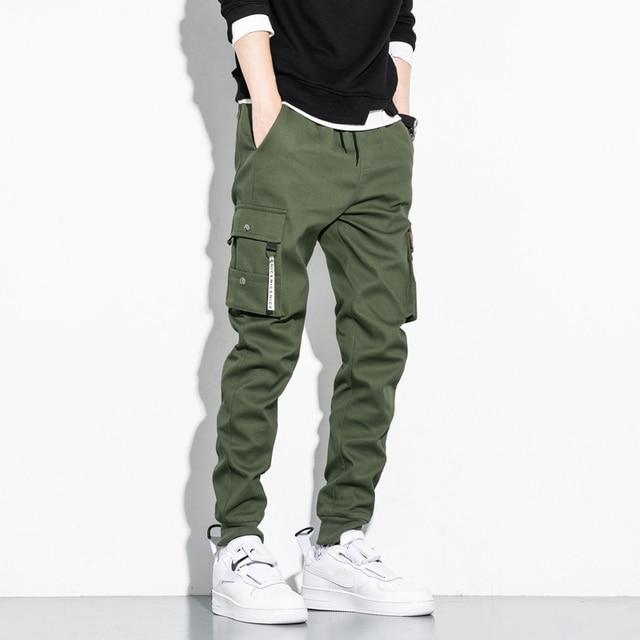 Autumn Black Jogger Men Cargo Pants Outdoor Tactical Military Pants Casual Loose Sweat Pants Men Cotton Trousers Big Size 8XL 2