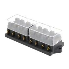 Universal 12V 8 Weg Fuse Box Block Sicherung Halter Box Auto Fahrzeug Schaltung Automotive Klinge Auto Sicherung Zubehör Werkzeug heißer verkauf