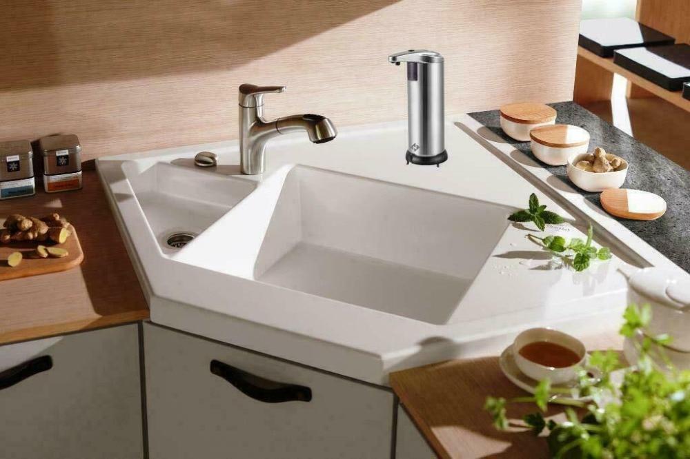 Ha9e4906a66754ff5872f6985f9a70bccP 250ml Stainless Steel Automatic Soap Dispenser Handsfree Automatic IR Smart Sensor Touchless Soap Liquid Dispenser