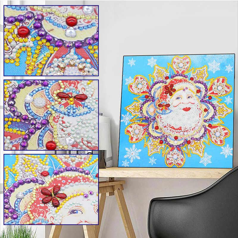 2020 חדש 5d עגול גביש ציור יהלומי diy יהלומי ציור רקמה עיצוב הבית חג המולד פסיפס חג המולד מתנה