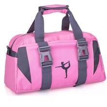 Yetişkin bale jimnastik spor Yoga dans çantası kızlar için çanta Crossbody tuval büyük kapasiteli çanta çocuk bale dans çantası kadın