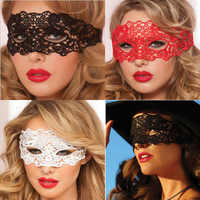 new half face red sexy lace mask party club fun eye mask halloween mask masquerade mask halloween mask halloween