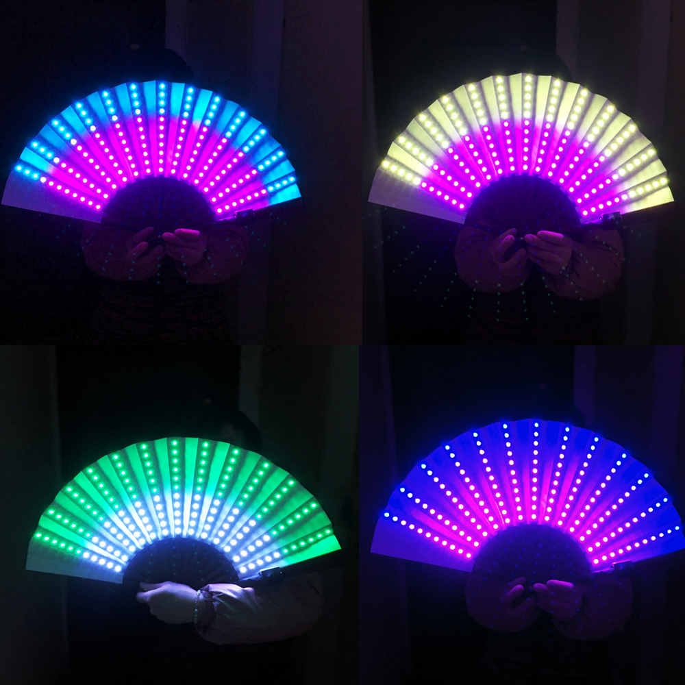 Full Color LED Fan Stage Performance Dancing Lights Fans Over 350 Modes Microlights Infinite Colors Rave Club EDM Music Party image