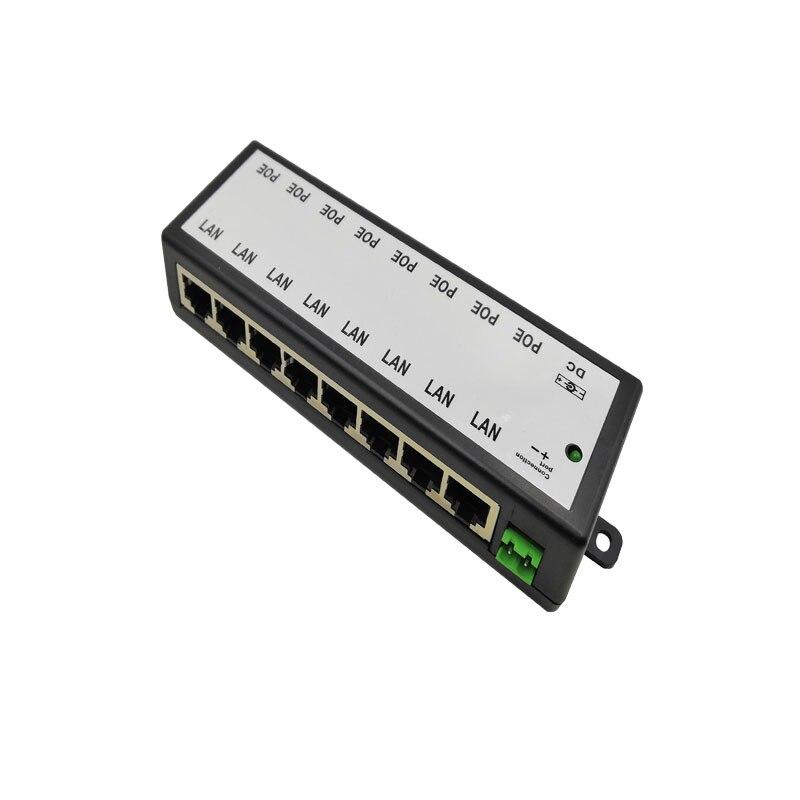 8-port PoE Injektor Für Überwachung POE IP Kamera Wifi AP VoIP Power Over Ethernet IEEE802.3af/bei Power Adapter