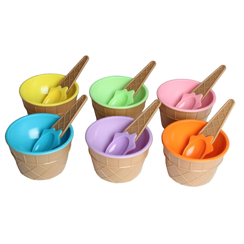 Safe Feeding Baby Bowls Plates Children\\\'s Tableware Food Containers Cups Kids Dishes Ice Cream Bowls Spoons Dinnerware