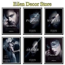 цена на Fifty Shades Darker Movie Poster Retro Movie Poster Posters & Prints  Photograph Art Printing Classics For Home Decor 42X30cm