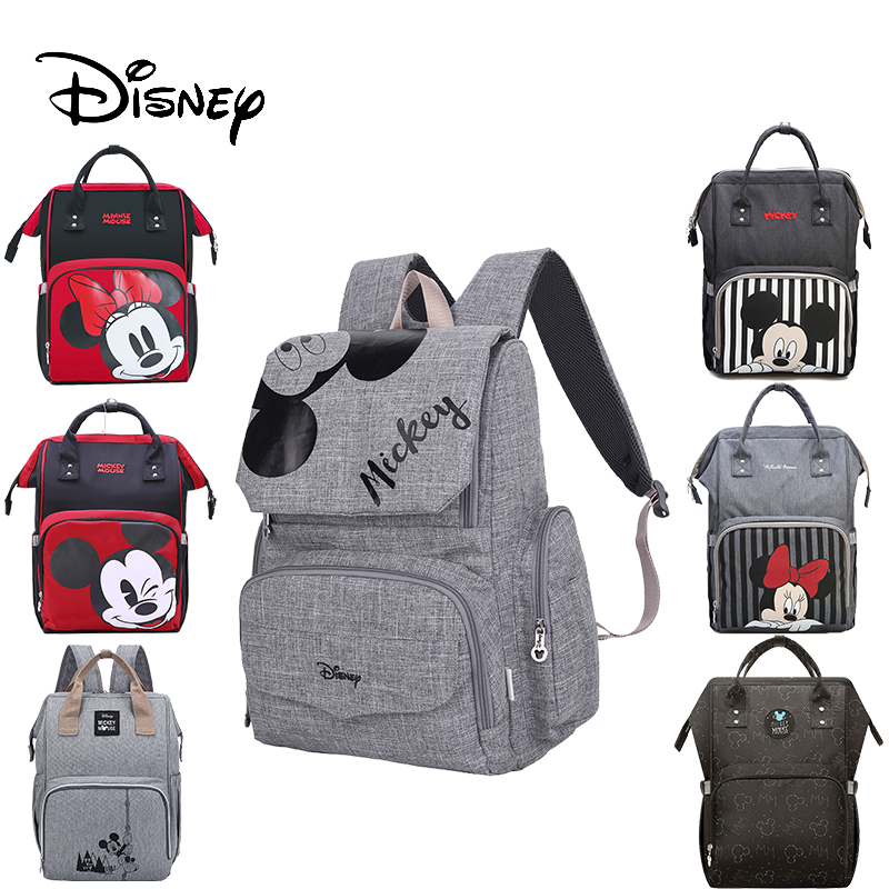 Disney Mickey Minnie Baby Diaper Mom Mummy Bags Maternal Stroller Bag Nappy Backpack Maternity Organizer Pram Wheelchairs
