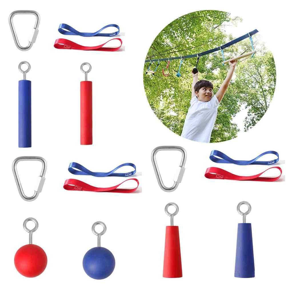 Children Climbing Ninja Rope Obstacle Training Course Warrior Training Equipment Kids Fun Outdoor Climbing Ninja Line Accessory