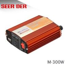 Inversor Solar de 300W con conexión a la red, inversor de onda sinusoidal modificada de CA de 12V, 24v a 220V, 50Hz/60Hz