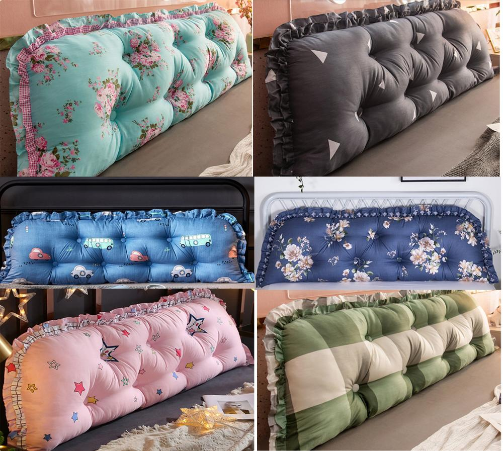15cm Thicken Cotton Bed Pillow Bed Back Support Cushion 45cmx100/120/150/180/200cm PP Cotton Filled Button Pulled In Pillow B580