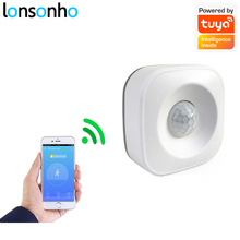 Lonsonho Tuya inteligentne WiFi Pir Alarm z czujnikiem ruchu wykrywacz ruchu na podczerwień inteligentne życie App