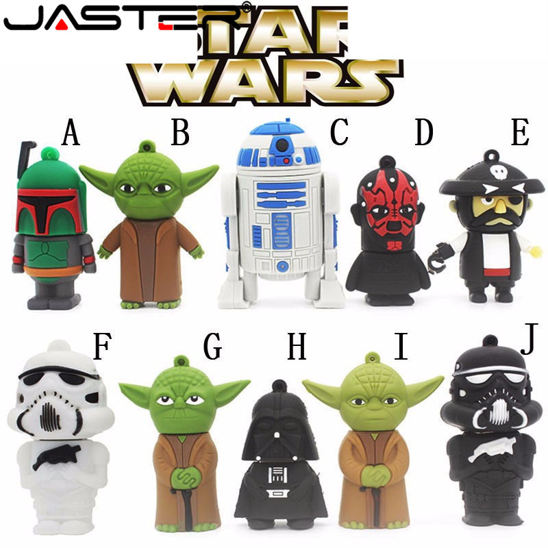 JASTER Star Wars Usb Flash Drive Usb 2.0 Pen Drive Flash Cards Pendrive 64GB 16GB 32GB Cartoon Memory Stick U Disk Free Shipping