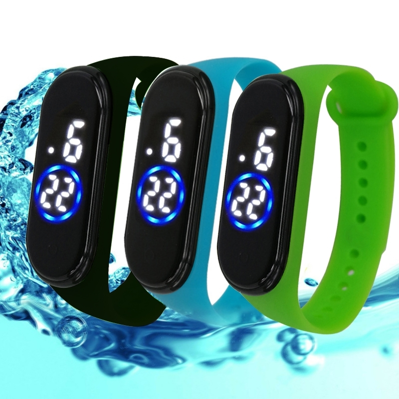 The New Men Women Sport Casual LED Silicone Watches Digital Clock Luminous Sensor Waterproof Electronic Wrist Watch Gift