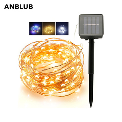 Outdoor 20M 10M Led Solar Lamp String Fairy Light 8 Modes Flash Guirlande Waterdicht Voor Kerst Tuin Straat patio Decoratie