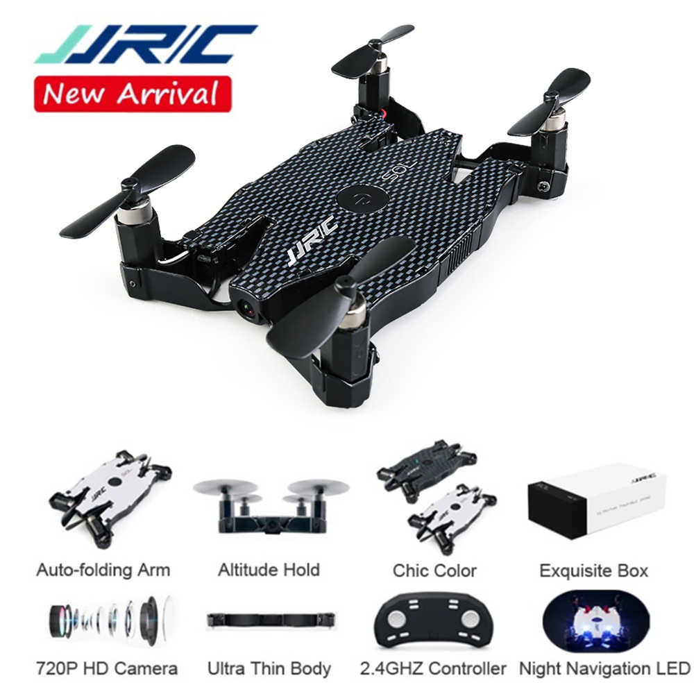 Foldable Mini Drone With 720P Camera  FPV WiFi Control Helicopter Pocket Portable RC Quadcopter Ultrathin Selfie Drone JJRC H49