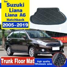 Подходит для Suzuki Liana A6 Aerio SX Baleno 2005-2019 хэтчбек, поднос для багажника, подкладка для груза, коврик для пола, коврик для удара грязи