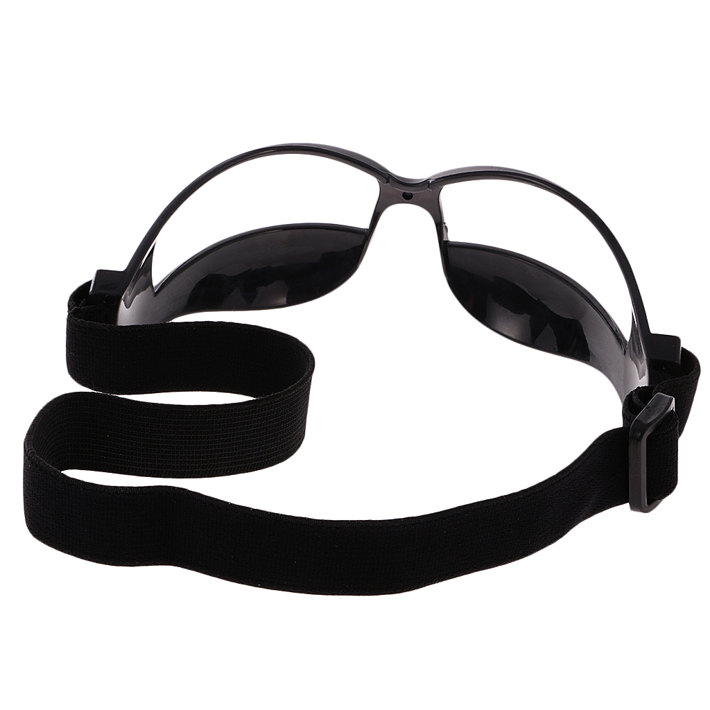 12Pcs/Lot Anti Down Basketball Dribble Dribbling Goggles Specs, Professional & Universal Fit Training Glasses - Black
