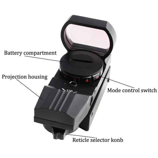 Tactical 11/20mm Red Green Dot Holographic Reflex Sight Optic Riflescope for Airsoft Air Gun Rifle Accessory Hunting  Caza 3