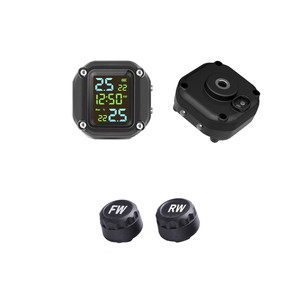 Image 5 - with Time USB Charging Motorcycle TPMS Motor Tire Pressure Tyre Temperature Monitoring Alarm System with 2 External Sensors