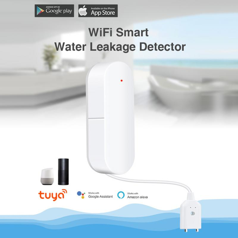WiFi Smart Water Leakage Alarm Sensor Smart Home Overflow Water Level Detector Tuya App Control For Home Security
