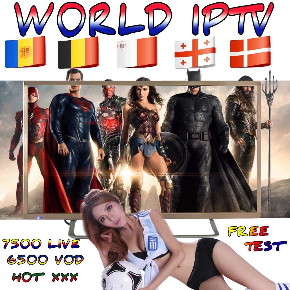 World IPTV France UK UK Arabic Belgium Sweden France France Spain Spain USA Canada Netherlands Smart TV Box IPTV M3U 7000+ Live