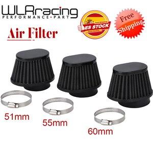 Мотоциклетный воздушный фильтр 60 мм 55 мм 54 мм 51 мм 50 мм Универсальный для мотоцикла, велосипеда, забора холодного воздуха, конический фильтр ...