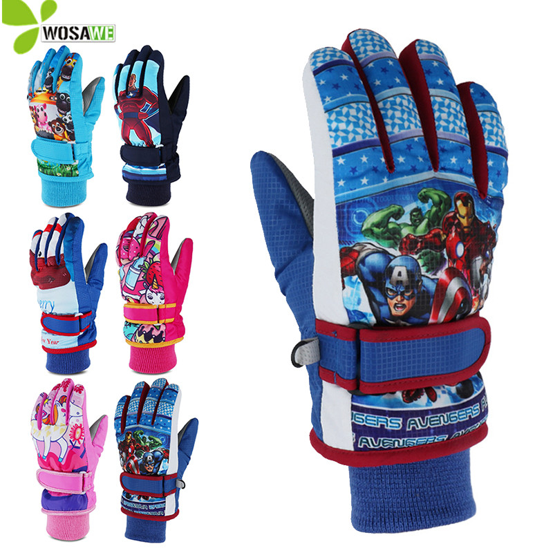 Cotton Inner Lining Waterproof Winter Kids Ski Gloves Thermal Snow Windstopper Adult Skating Warm Skiing Racing Sports Gloves
