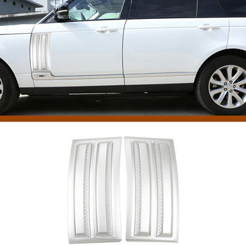 For Range Rover Vogue SVO 2014-2018 Chrome Fender Side Air Vent Outlet Cover image