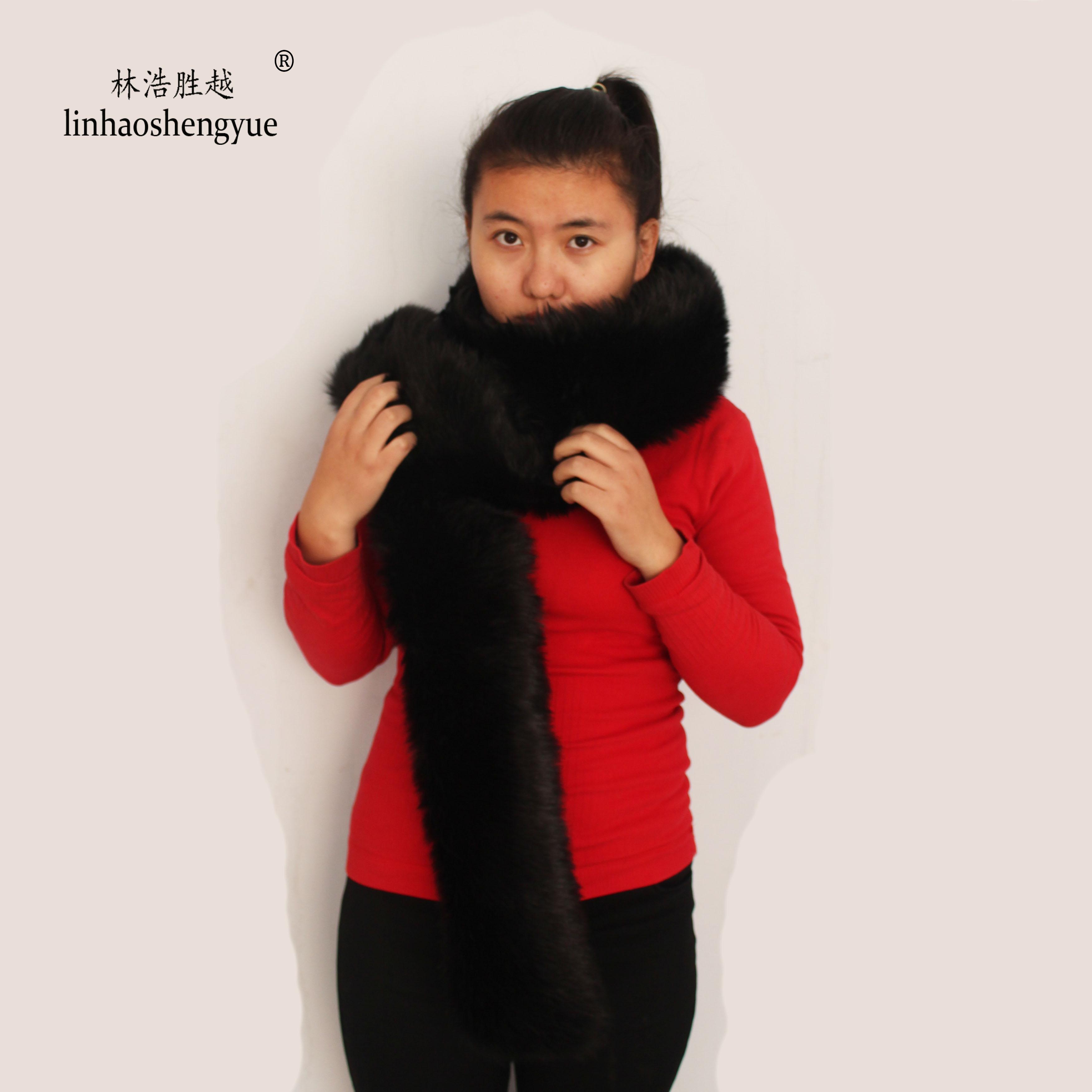 linhaoshengyue  Fashion wild autumn and winter thick warm plush scarf plush scarf imitation fur
