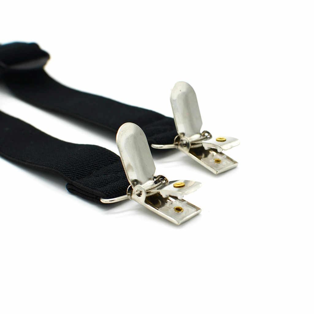 Подтяжки для мужчин, рубашка с защитой от сгиба, противоскользящие подтяжки для ног, эластичные регулируемые подтяжки, подвязки для нежных мужчин